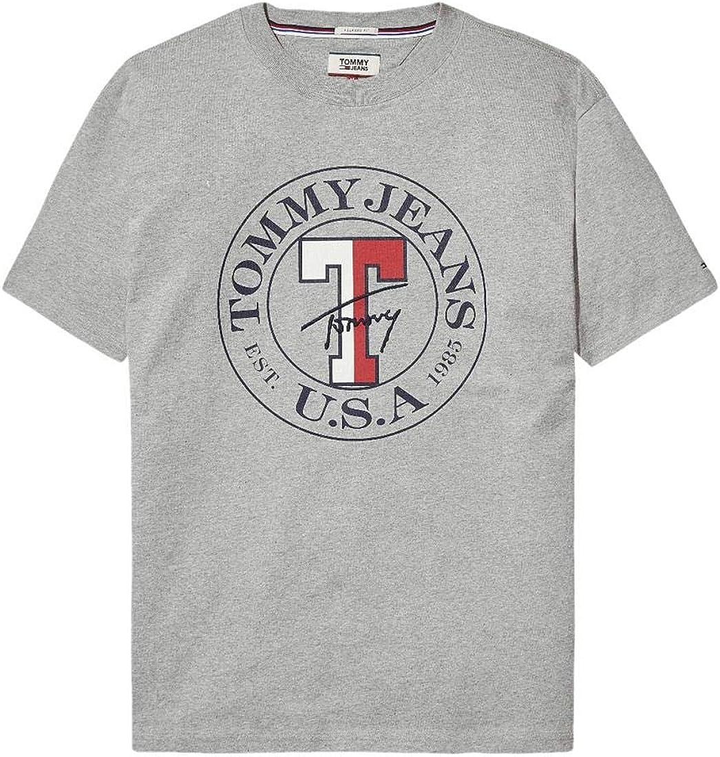 Tommy Hilfiger - TJMTOMMY Circle tee - DM0DM05127 038 - Camiseta Manga Corta Color Gris para Hombre - Estampado CIRCULO EN Pecho (S): Amazon.es: Ropa y accesorios