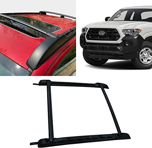 Autoxrun Black Roof Rack Rail Aluminum Cross Bar