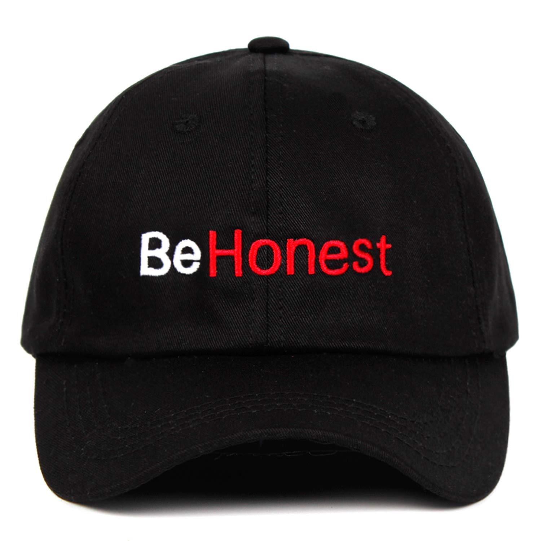 ANDERDM Hat 100/% Cotton Letter Design Embroidered Dad Hat Be Honest Baseball Cap Men Women Unisex