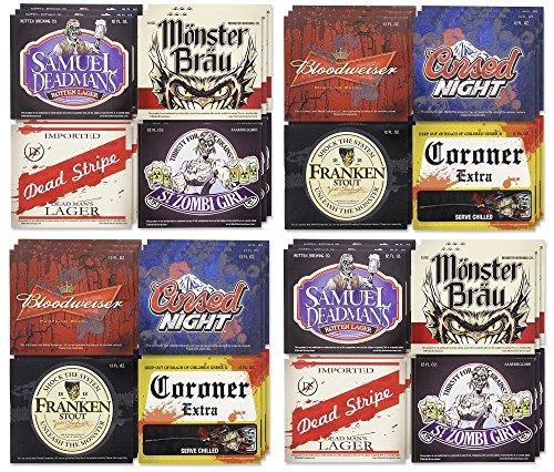 (Halloween Beer Label 4 Pack)
