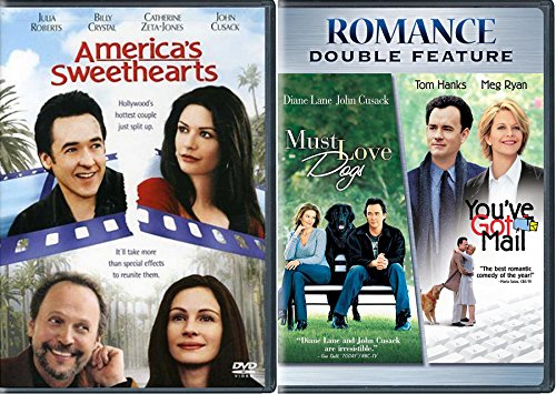 Romance DVD Bundle - You've Got Mail, Must Love Dogs & American's Sweethearts 3-Movie Triple Feature Bundle -