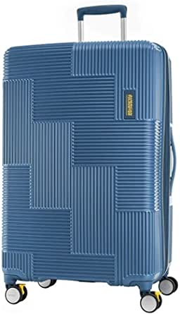 American Tourister Velton Hard Side Spinner Luggage, Navy, 81 Centimeters