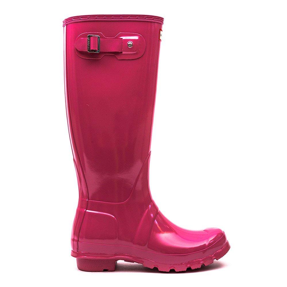 Womens Hunter Original Tall Gloss Waterproof Wellington Winter Rain Boot B00SOAM7WW 6 M US|Rhodonite Pink