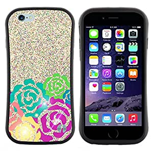 "Hypernova Slim Fit Dual Barniz Protector Caso Case Funda Para Apple (4.7 inches!!!) iPhone 6 / 6S (4.7 INCH) [Glitter Pink Teal Espumoso verde""]"