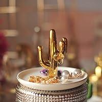 globlepanda Decorativo cactus cactus porta Display gioielli in ceramica orecchini vassoi piatti anello organizzatore decorazione
