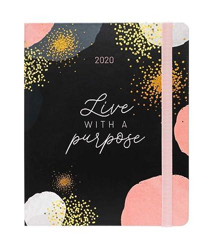 Agenda 2020 semana vista Premium Glitter, 17 meses