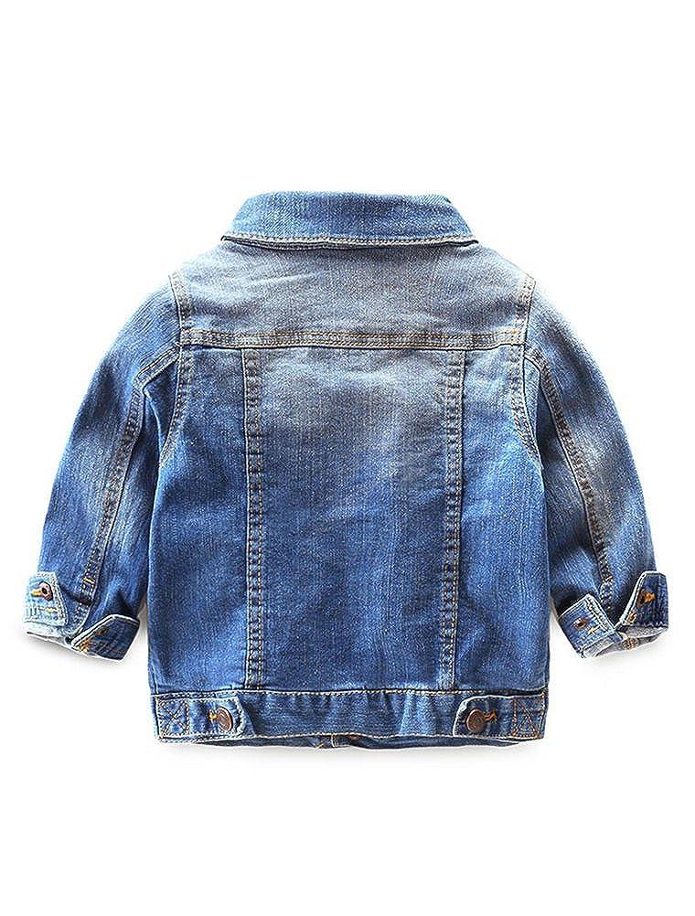 de8cf6e2a Abolai Baby Boys  Basic Denim Jacket Button Down Jeans Jacket Top ...
