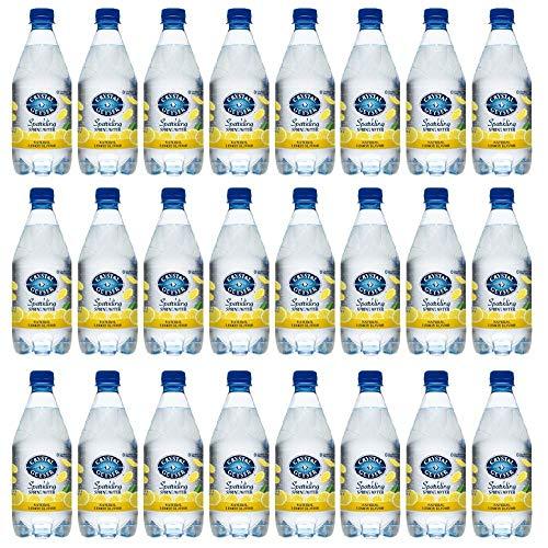 Crystal Geyser Sparkling Spring Water, Lemon Flavor, 18Ounce. PET Bottles , No Artificial Ingredients, Sweeteners, Calorie Free (Pack of - Spring Flavor Water