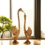 JaipurCrafts Pair of Kissing Duck Showpiece (10.25 in Feathers)