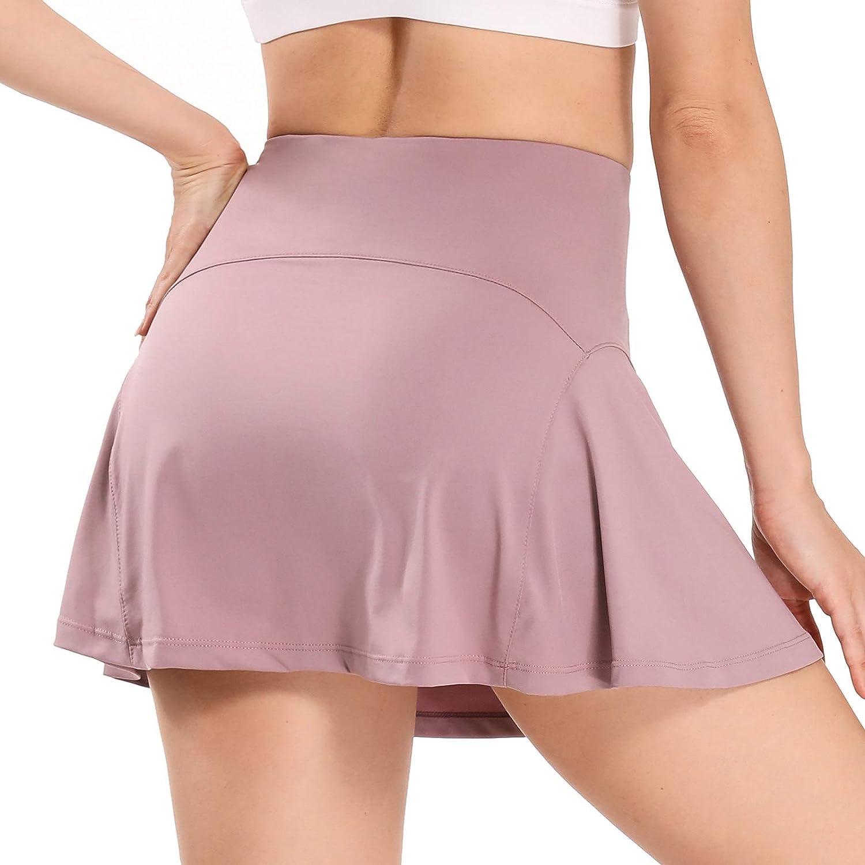 Amazon.com: WOWENY Women's Athletic Tennis Skorts Skirts for Women Running  Golf Skort with Pockets: Clothing