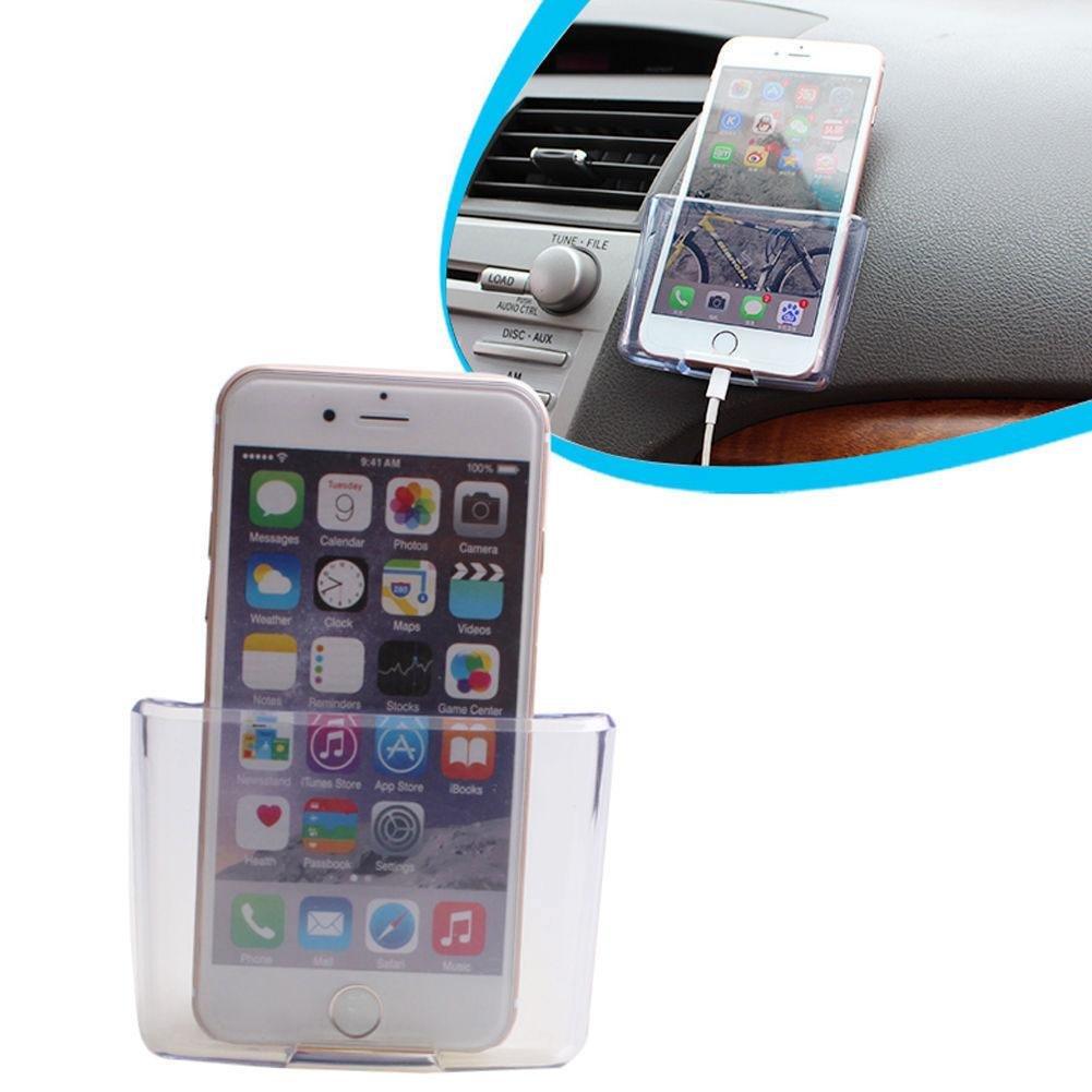 CALISTOUK Caja transparente de almacenamiento universal para automoció n en coche hogar, organizador de accesorios