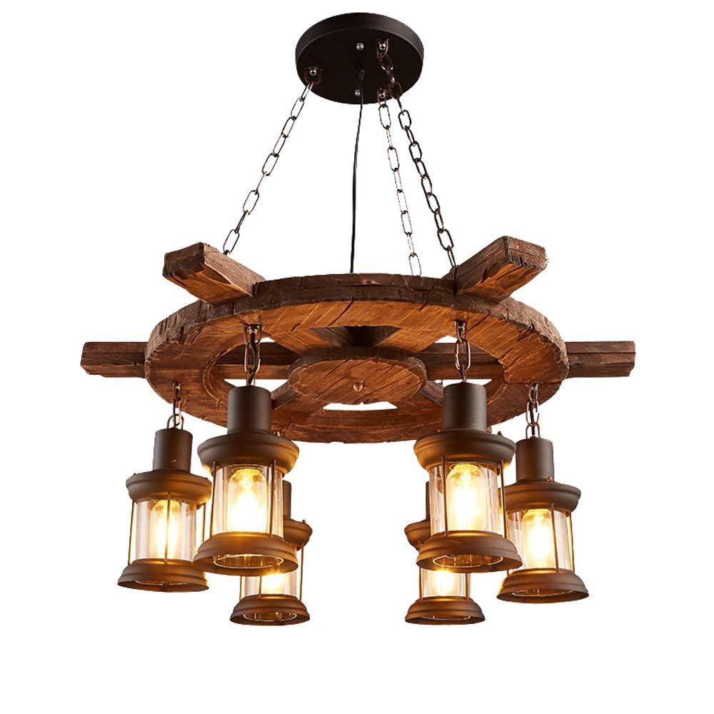 Nianle ボートの木製シャンデリアアメリカの国の照明の照明レトロノスタルジックな産業風の吊りランプ人格のレストランのバーカフェ装飾ランプ (色 : Style A) B07KN52C5X Style A