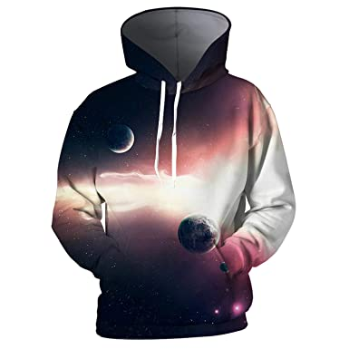 nayingying 3D Hoodies Hombres Sudaderas Con Capucha Galaxia Nebulosa 3D Streetwear at Amazon Mens Clothing store: