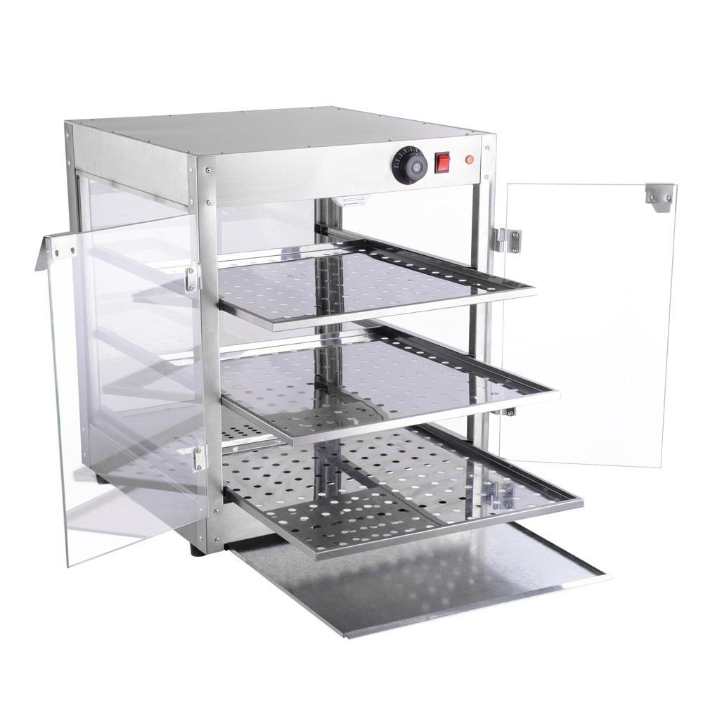 NEW LEAF Commercial 3 Tier Food Warmer Display Case Pizza Cabinet by New Leaf