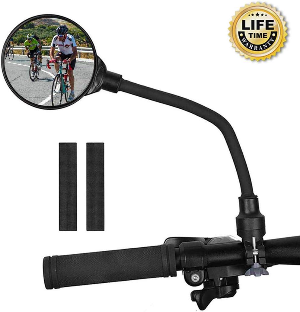 Adjustable Handlebar Rear View Mirrors for Bicycle Electric Motorcycle Mountain Road Bike Bike Mirror Bar End Bike Mirror