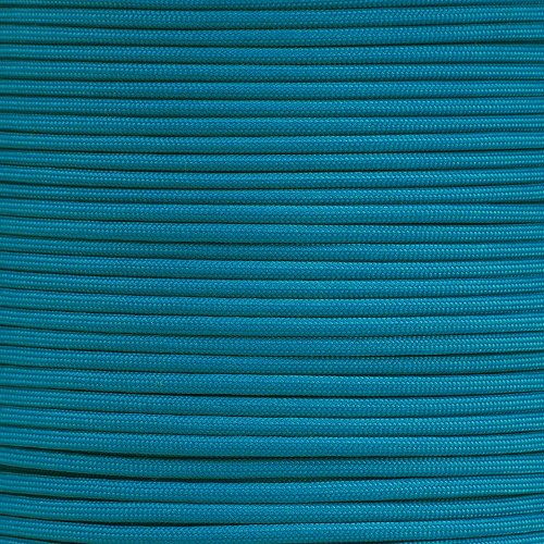 PARACORD PLANET 550 Paracord - Solid Colors - for Indoor and Outdoor Applications (10 Feet, Caribbean)