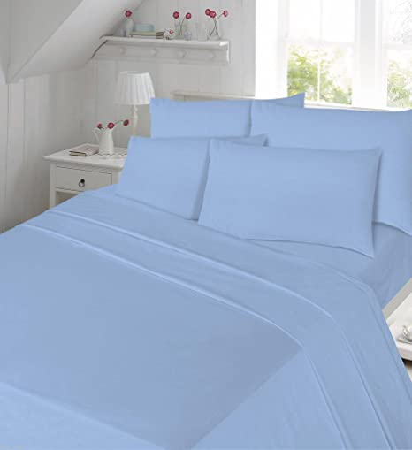 Flannelette Sheets Fitted Bed Sheets Thermal New Single Double King Super  King Size Plain Dyed 100