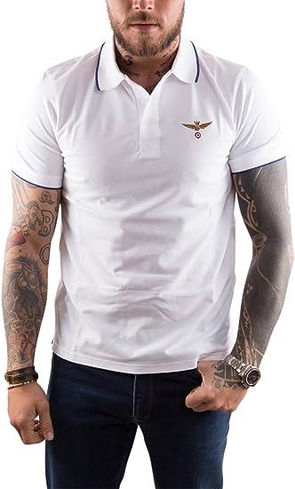 Aeronautica Militare - Polo - para Hombre Bianco XXX-Large: Amazon ...