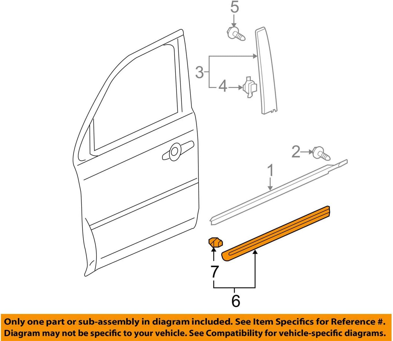 Genuine Honda 75302-SZA-A22ZM Door Protector Right Front