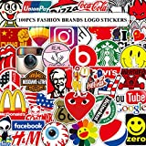 Meet Holiday 100 Pcs Pack Brand Laptop Stickers Cool Vinyl Waterproof Sticker Skateboard Pad MacBook Car Snowboard Bicycle Luggage Decal (Brand Laptop Stickers)