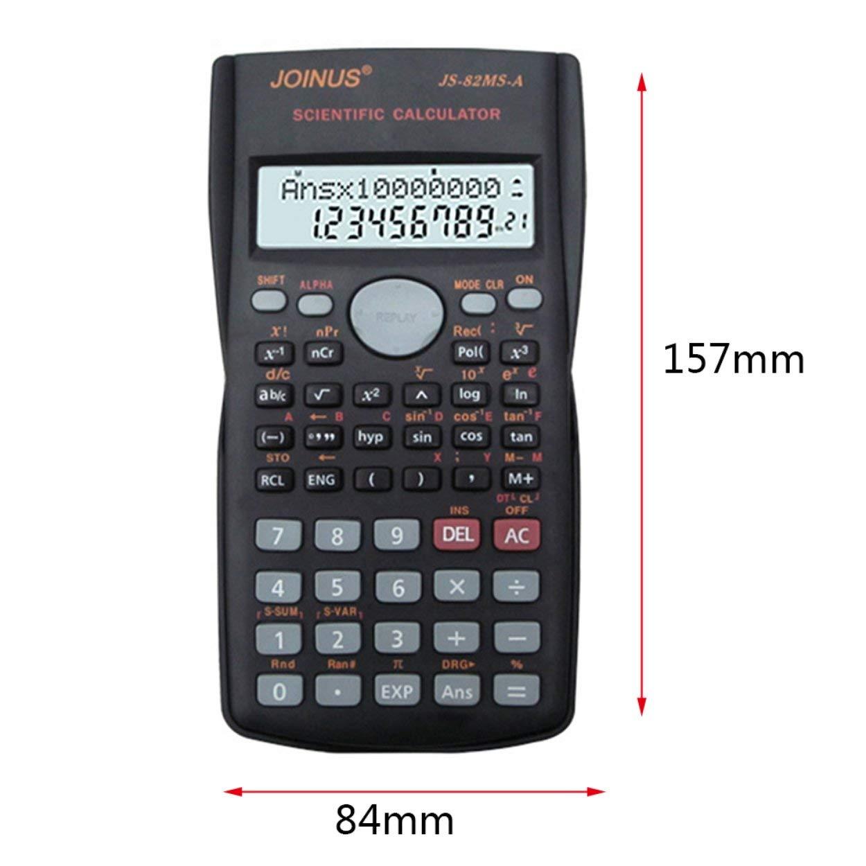 Lorenlli Calculadora Multifuncional cient/ífica de 2 l/íneas Pantalla LCD Calculadora port/átil de Funciones de Mano Funciones 240