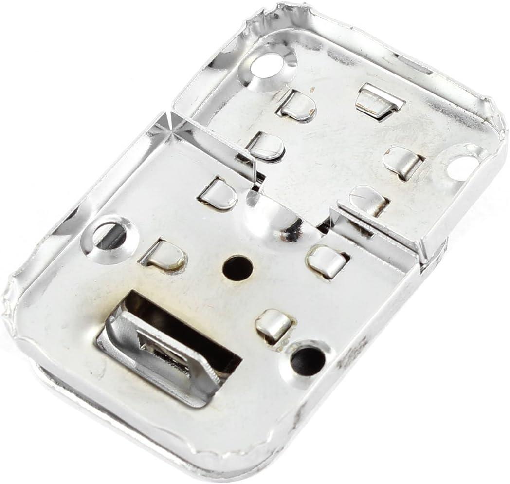Aexit Scatole per il torace Custodie per bauletti Chiusura per metallo per baule Chiusura a scatto per catenaccio 48 x 32 mm ID 684228