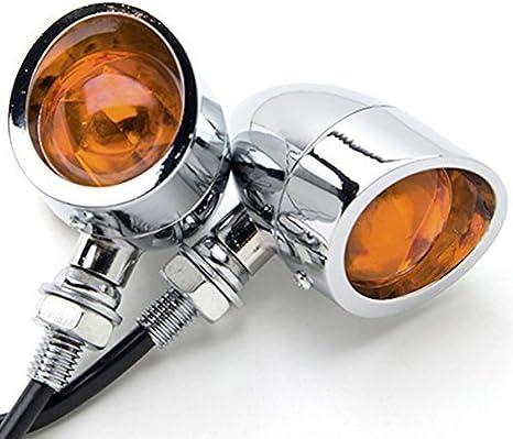 eclear 2/X Universale Vintage del motociclo Indicatore di direzione micro mini Indicatori di direzione Luci nero Heavy Duty Indicatore Lampada Luce Di Segnale Per Harley Bobber Chopper Cruiser Custom