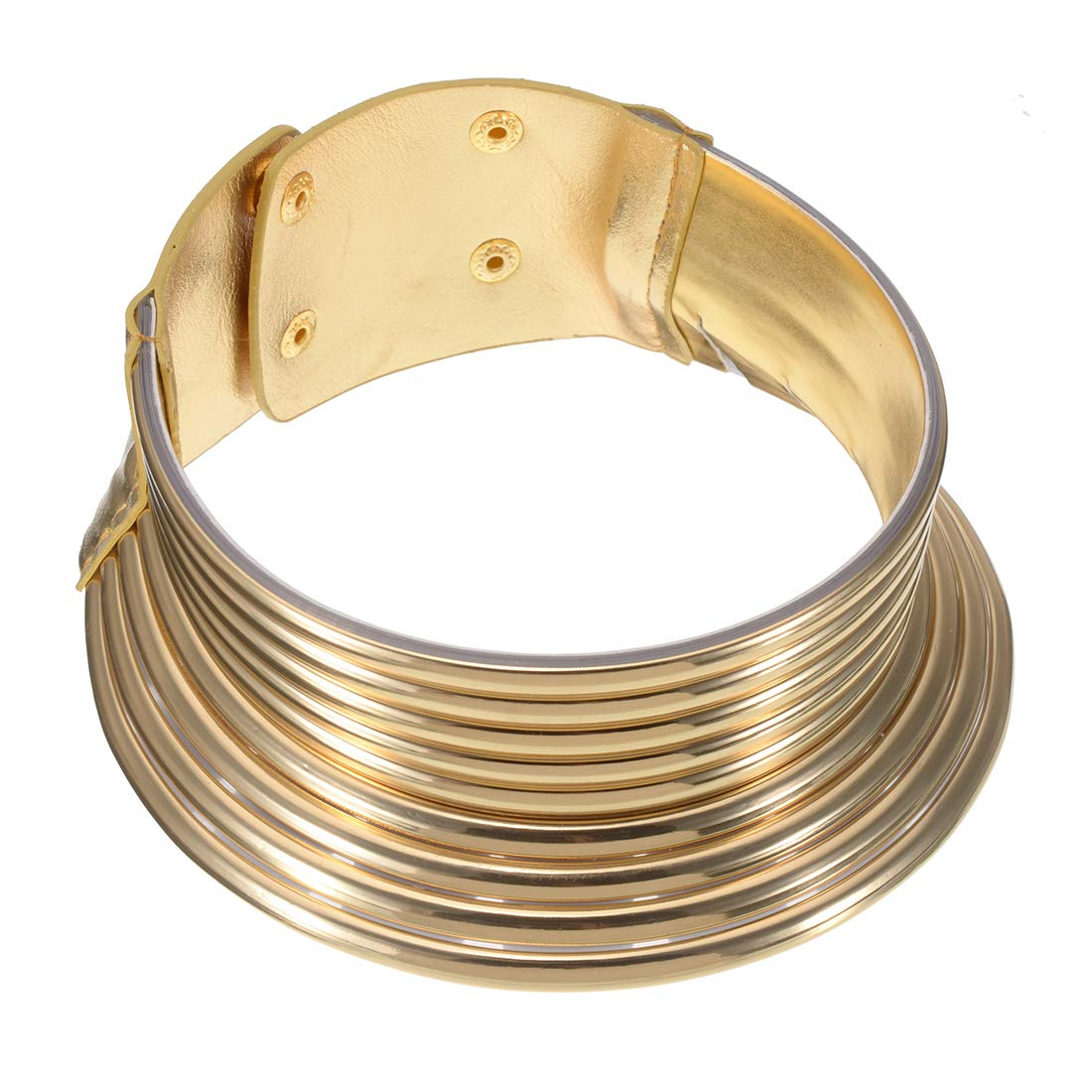 Jerollin Gold/Silver Leaf Choker Collar for Women, African Jewelry Statement Necklace African Egypt Necklace