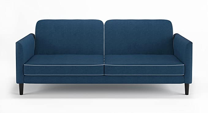 Urban Ladder Felicity Three Seater Sofa Cum Bed (Matte Finish, Blue)