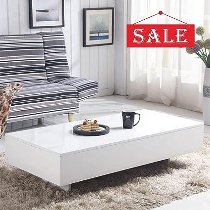 Living Room Modern Side Table Design.Goldfan High Gloss White Rectangle Coffee Table Modern Design Sofa Side End Tables For Home Living Room Office Furniture