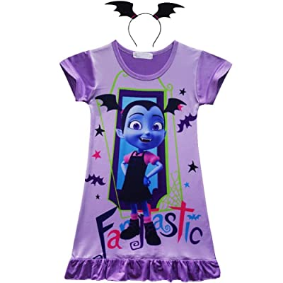 Cercur Vampirina Toddler Night Gown for Little Girls Pajamas Dress: Clothing