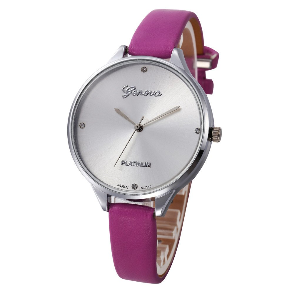 Women's Quartz Watches,Yamally Male and Female Pu Leather Quartz Watch Personality Star Compact Dial for Unisex