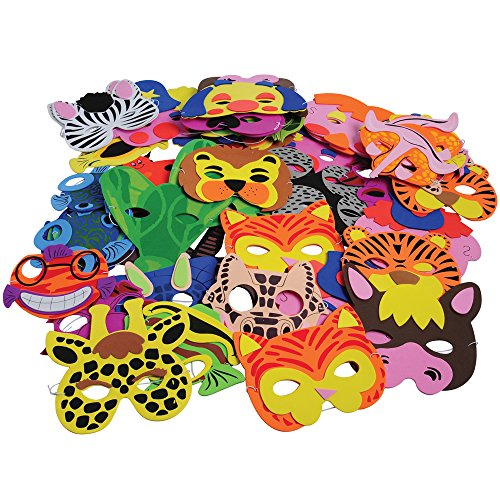 U.S. Toy Child-size Foam Masks 60 Pc. Assortment by U.S. TOY CO. INC.