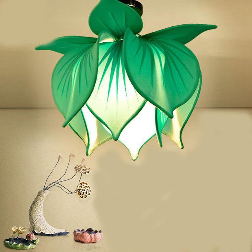 Jingzou Chinesisch Decke Tuch Lotus Lampe Eingang Flur Wohnzimmer Schlafzimmer Restaurants Restaurant Lampen 50*45CM