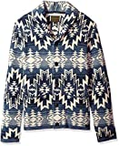 Lucky Brand Men's Shawl Collar Cardigan Sweater, Blue/Multi, L