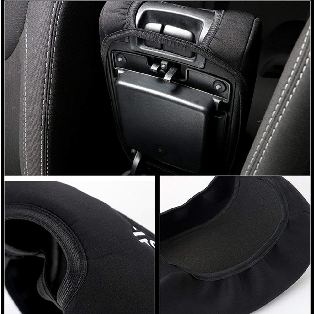 TimeCollect Center Console Armrest Pad Cover Jeep Dog Paw Paws Print Logo Jeep Wrangler JK Sahara Sport Rubicon X /& Unlimited 2011-2016