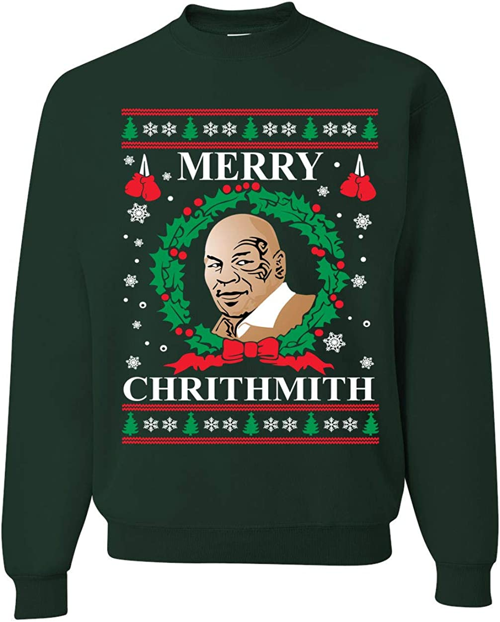 Wild Bobby Merry Chrithmith Mike Tyson Ugly Christmas Sweater Unisex Crewneck Sweatshirt