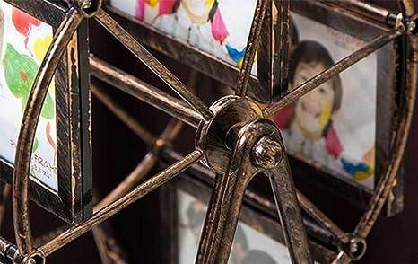 liuhoue Portaretrato Creativo Noria, Vintage 5 Pulgadas montada Marco de la Tabla de abs-A: Amazon.es: Hogar