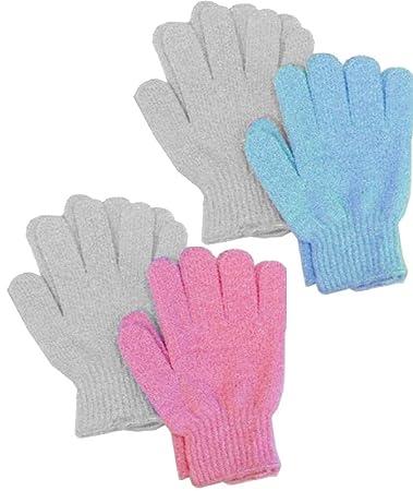 8fa358391e9c5 Amazon.com : Aquasentials Exfoliating Bath Gloves (4 pairs) : Bath Mitts  And Cloths : Beauty