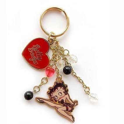 Amazon.com: Betty Boop Classic rojo Jennifer llavero: Toys ...