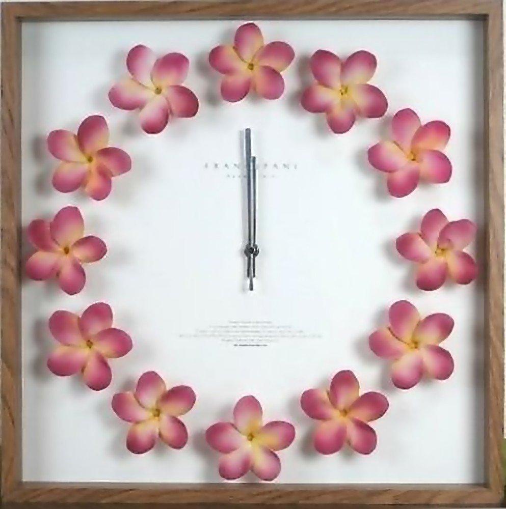 ハワイアン雑貨/インテリア/ハワイ雑貨  ハワイアン クロック プルメリア時計(ピンク) B00FMZD4RY