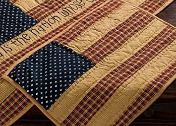Amazon.com: Patriotic Patch Quilted Placemats (set of 2) in Rustic ... : quilted placemats - Adamdwight.com