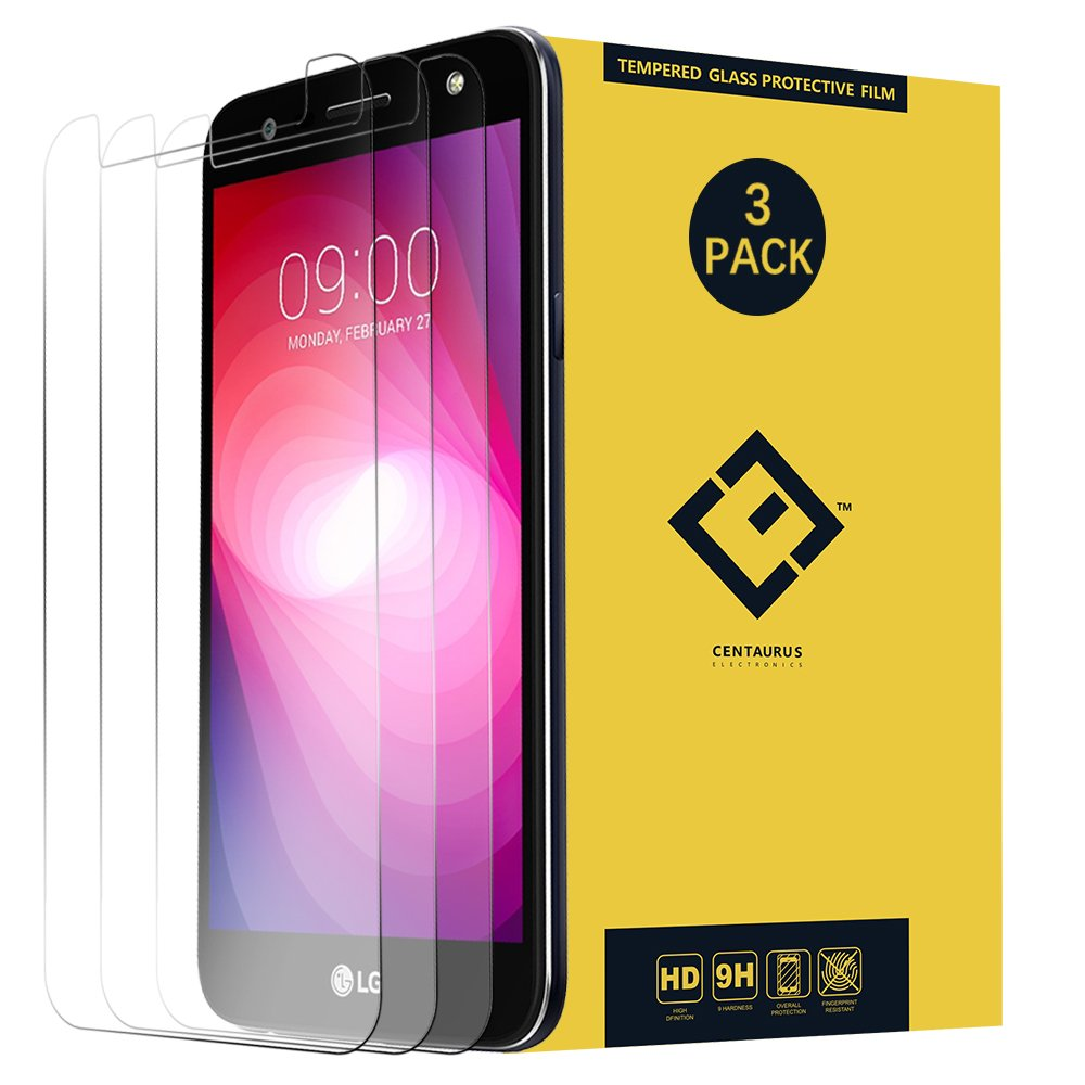 X Power 2 Screen Protector,(3 Pack) Ultra-Thin Clear Tempered Glass Protective Film Compatible with LG X Charge US601 X500 / M327 M322 L64VL L63BL M320N M320 X320 SP320 5.5-inch(no fit X Power)