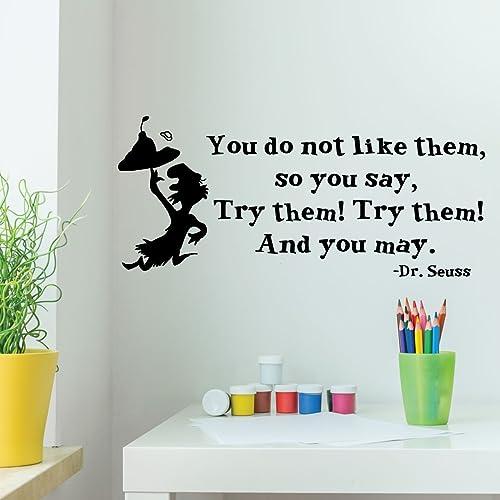 Amazon.com: Dr. Seuss Wall Decor - Green Eggs And Hams - You Do Not ...