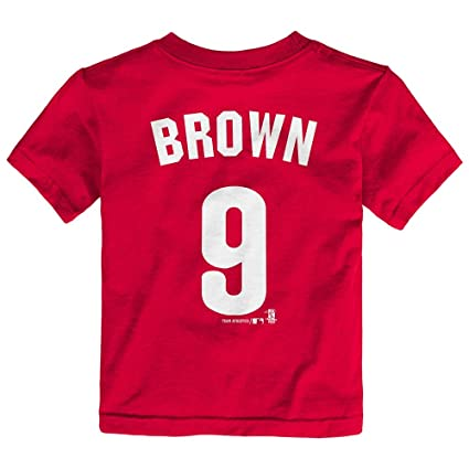 e8956ebfa Image Unavailable. Image not available for. Color  Outerstuff Domonic Brown  MLB Philadelphia Phillies Jersey T-Shirt Infant Toddler ...