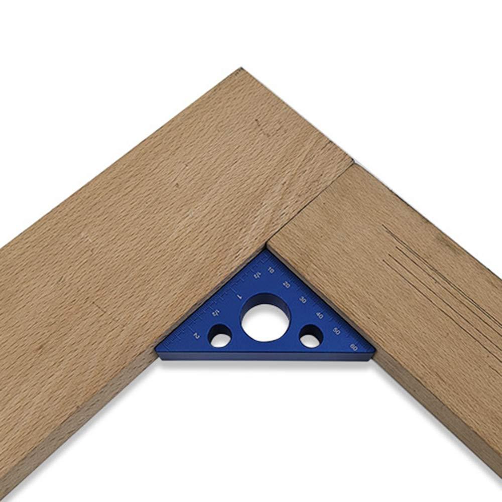 Outils de pr/écision du bois rouge Outil de mesure de la hauteur /Équerre de menuiserie R/ègle triangulaire en alliage daluminium Angle de 45 degr/és