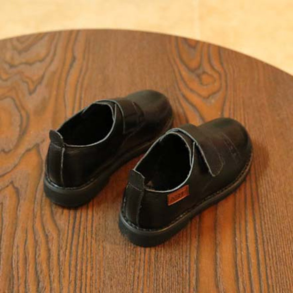 Toddler//Little Kid JINANLIPIN Boys Slip on Brogue Oxford Dress Shoes Comfy Soft Casual Shoes