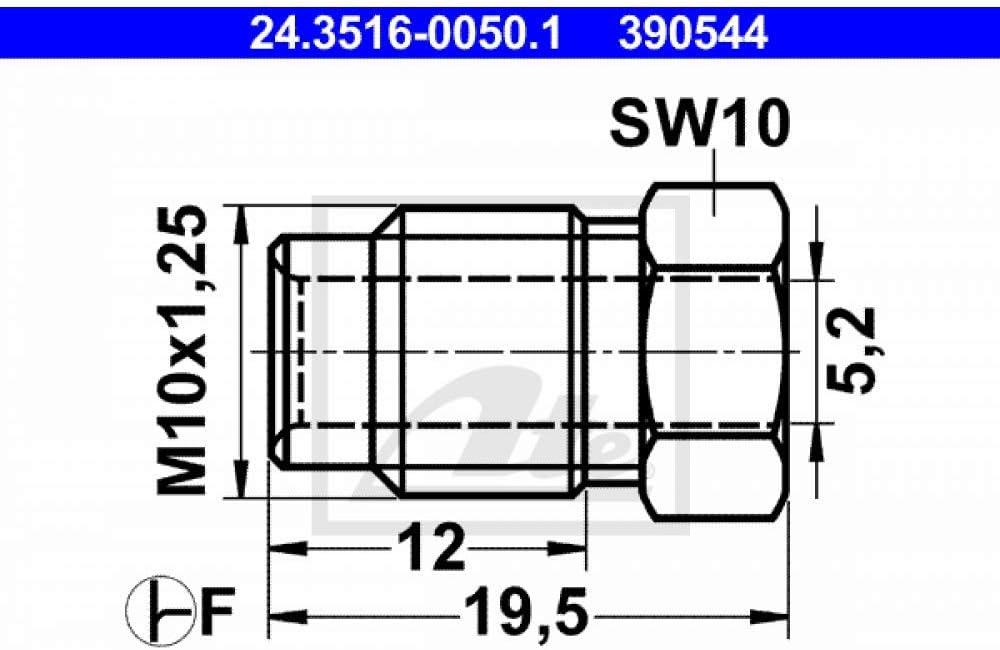 ATE 24.3516-0050.1 /Überwurfschraube