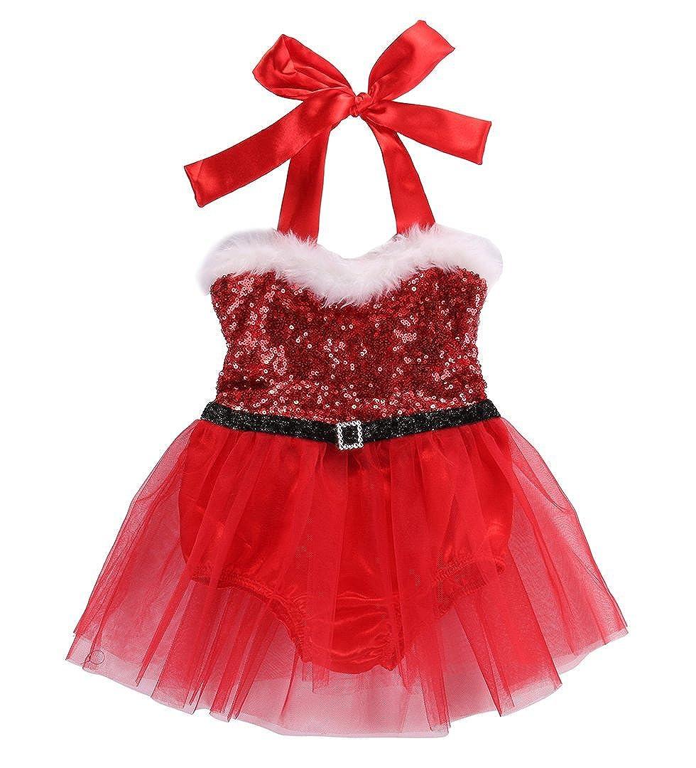 Amazon.com: Bebé recién nacido niña pelele Jumpsuit Vestido ...