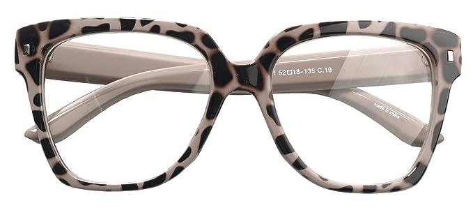 Amazon.com: Retro Nerd Geek Oversized Eye Glasses Horn Rim Framed ...